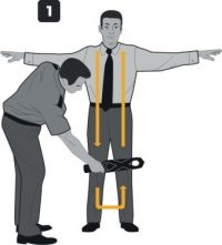 Technique for Examining a Person Using Handheld Metal Detector